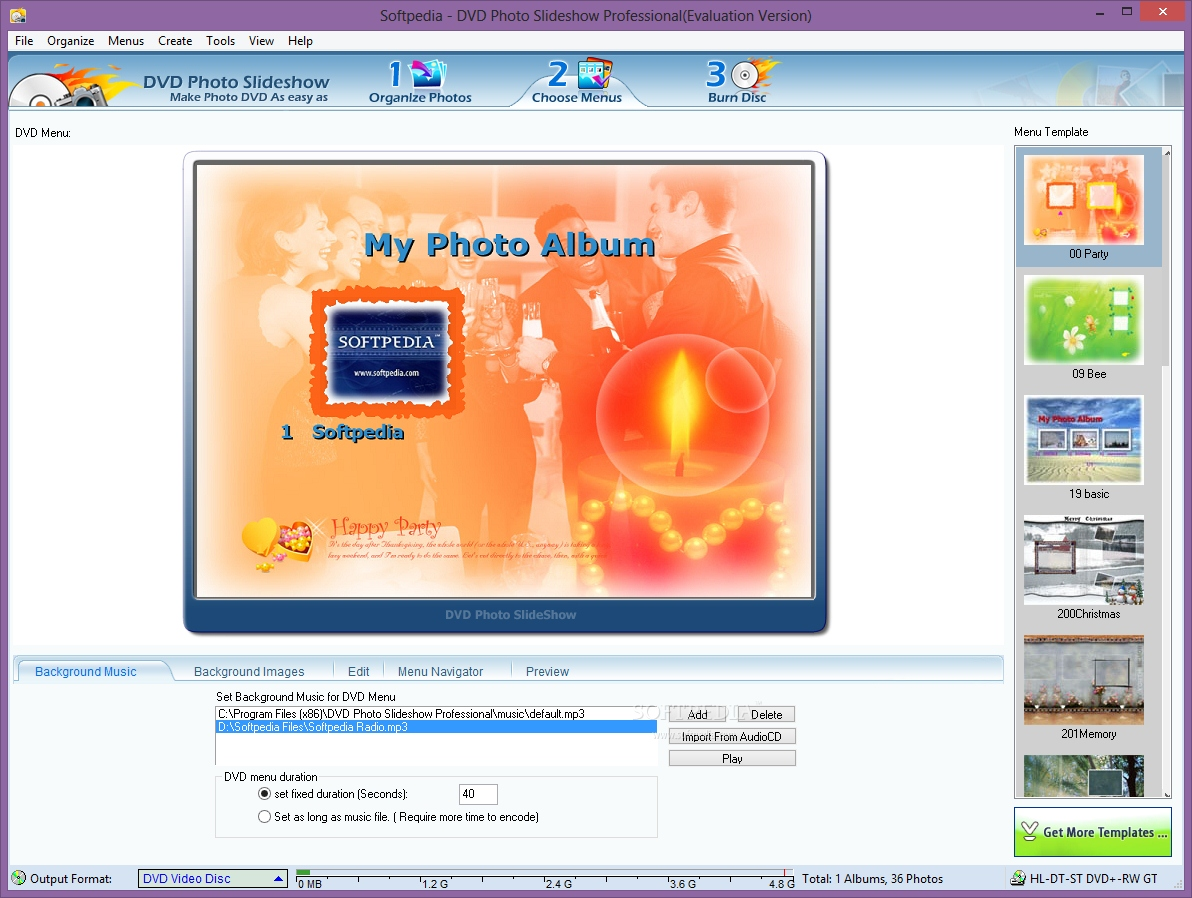 Dvd photo show software