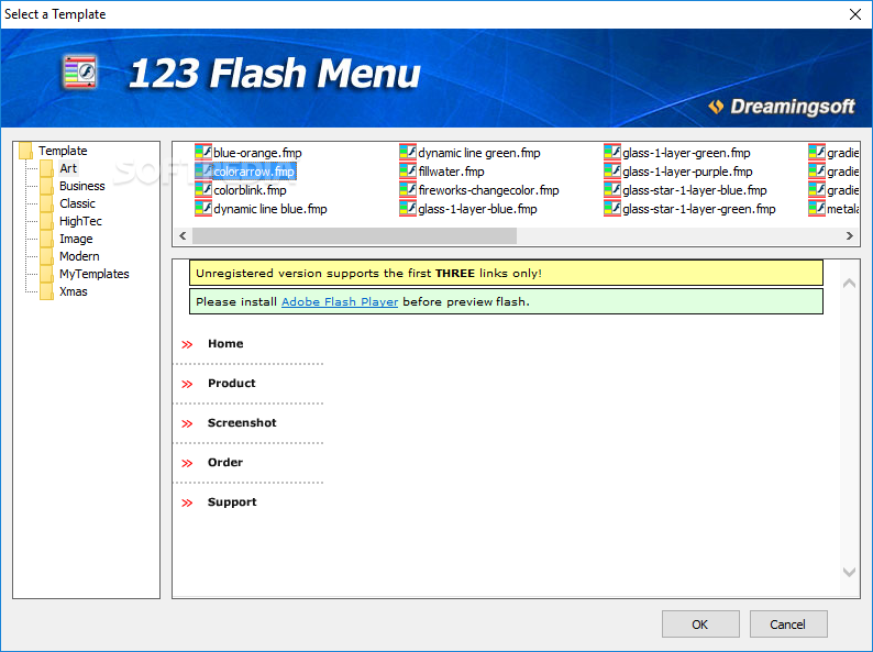 download 123 flash menu 4 6 3 build 1750