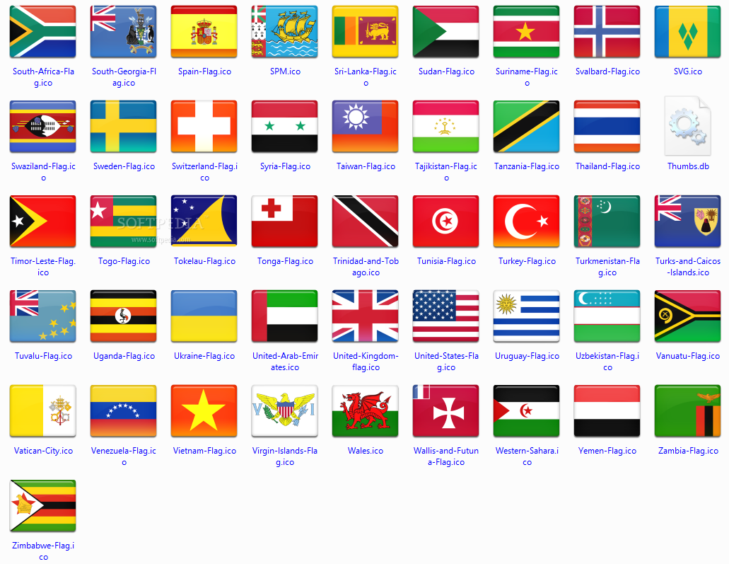 Beautiful icon collection featuring 172 country flag icons rendered