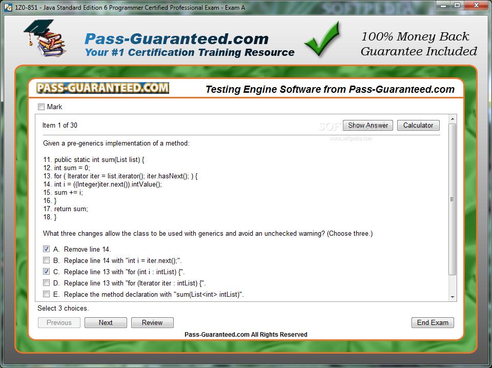 Download 1z0 851 Java Standard Edition 6 Programmer Certified