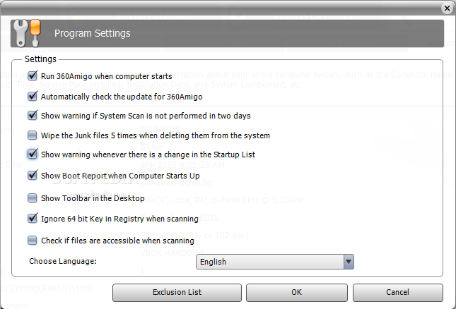 360amigo system speedup key