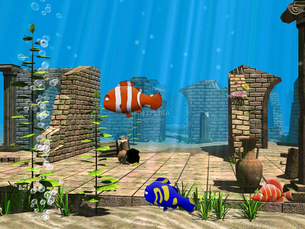 3D Funny Fish Screensaver