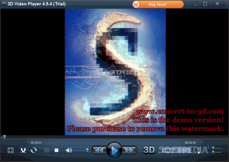 3d video player screenshot 1 from the main window of 3d video player
