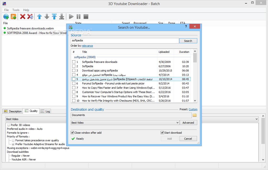 Download 3D Youtube Downloader-Batch 2 10 10
