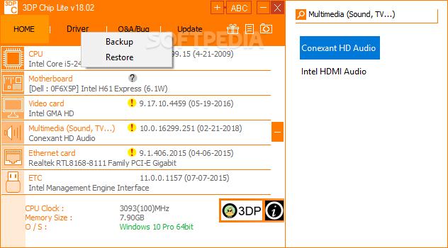 descargar 3dp chip windows 10