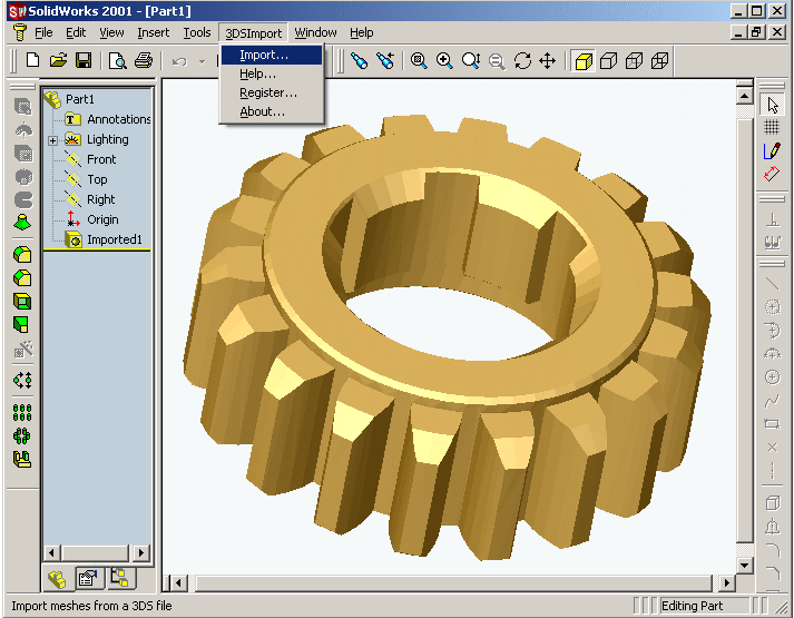 Download 3DS Import for SolidWorks 1 0