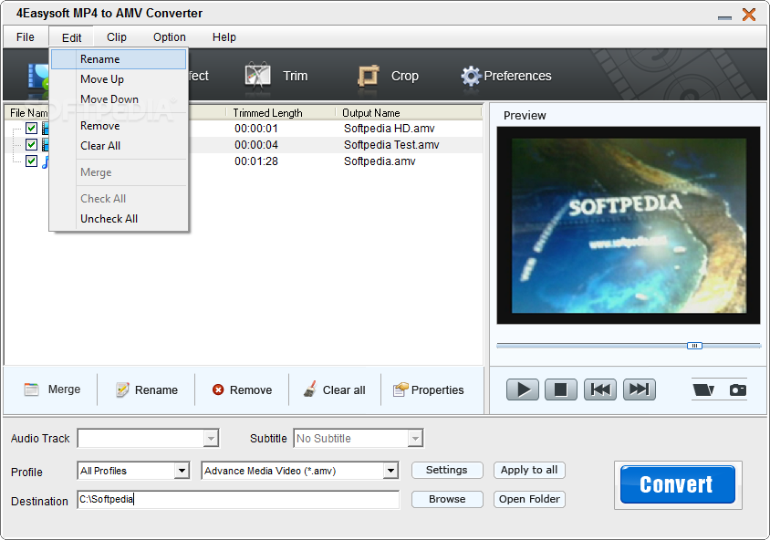 Convert Any Video to AMV and Extract Audio from Video