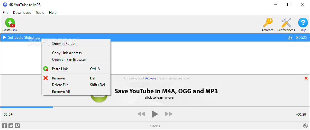 Download 4K YouTube to MP3 for Windows-portable App
