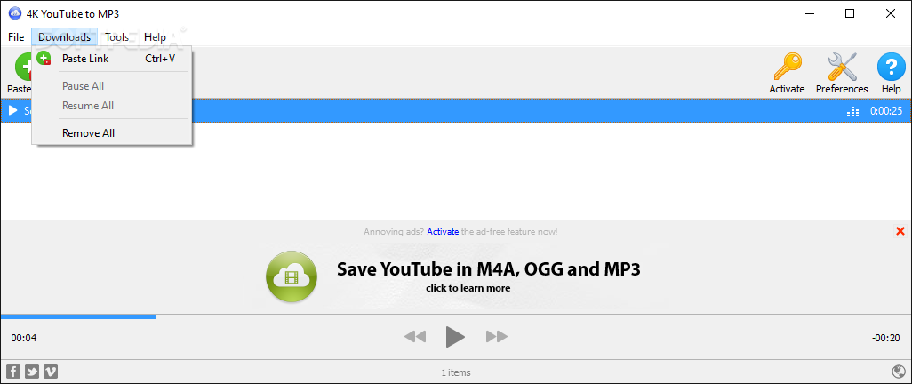 Download 4K YouTube to MP3 3.3.5 Build 1797