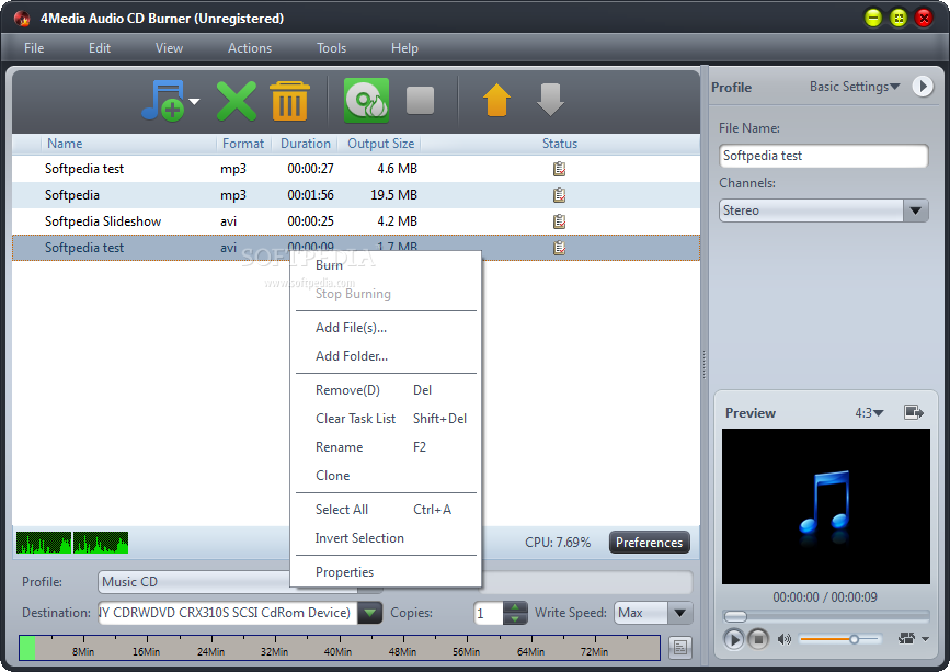 MP3 CD Burning Software - Download & Install in Seconds