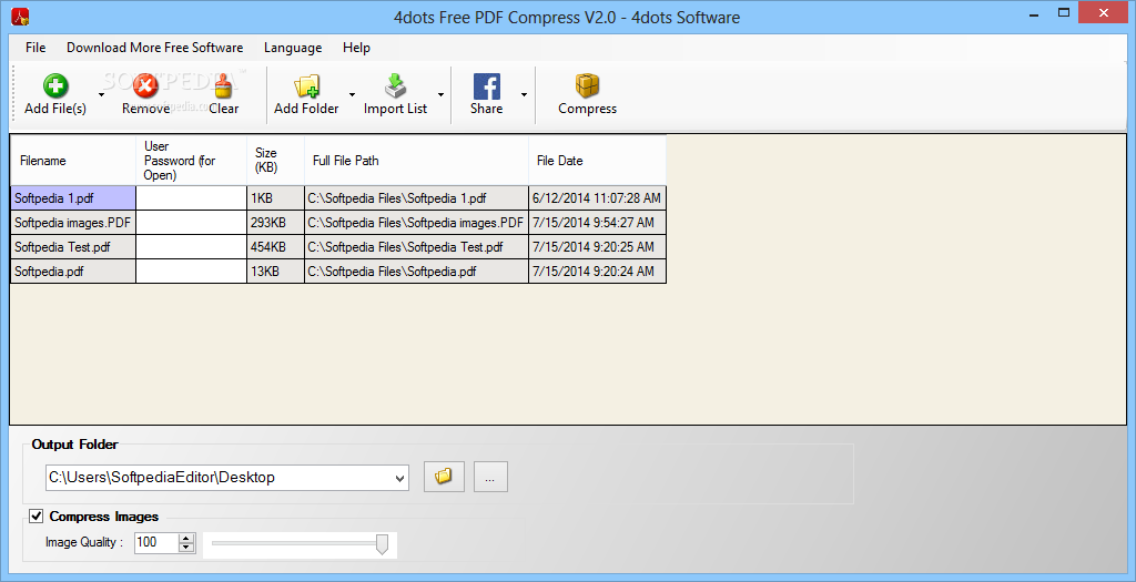 Download 4dots Free PDF Compress 3.0