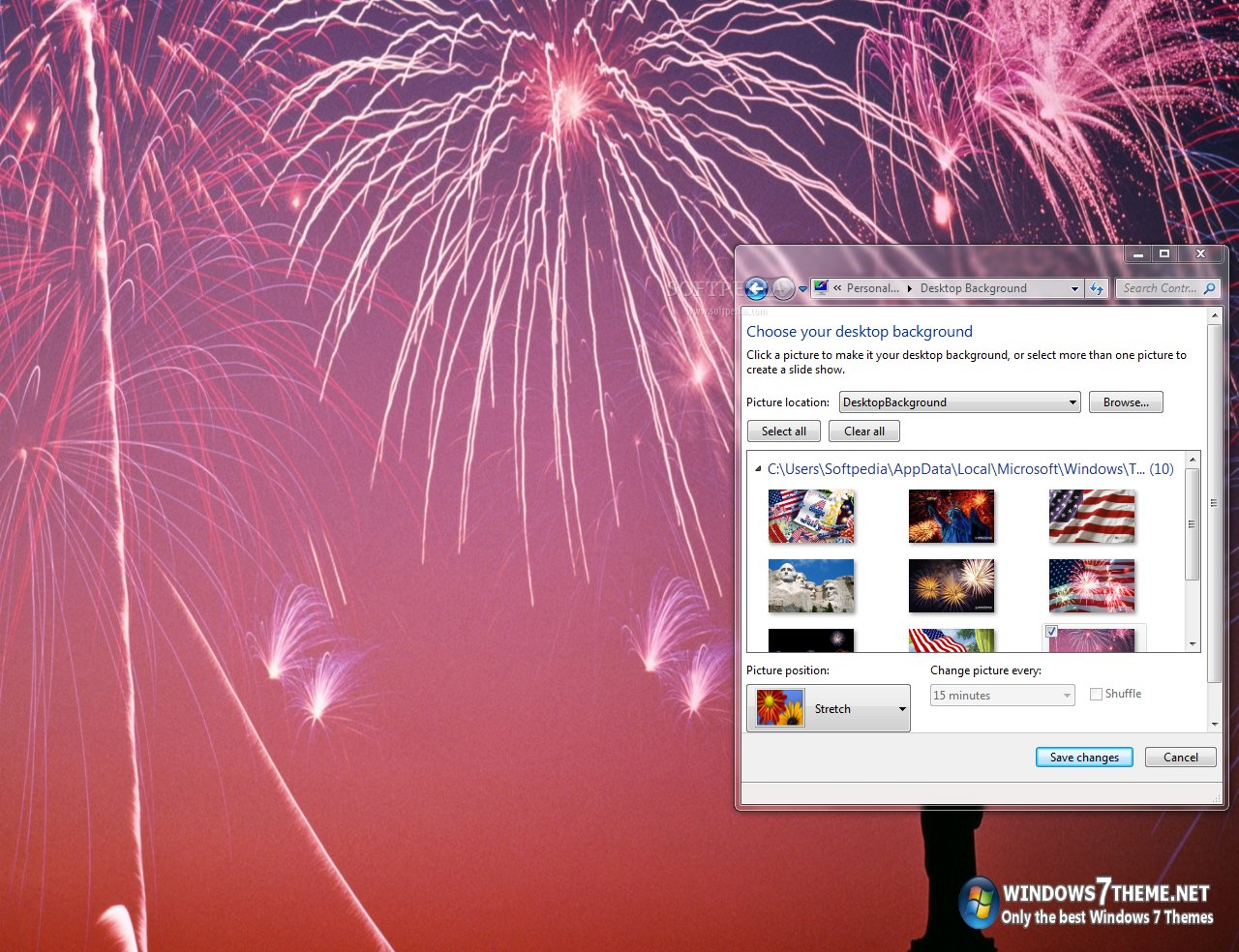 4th of july windows 7 theme with anthem this is a sample view of what