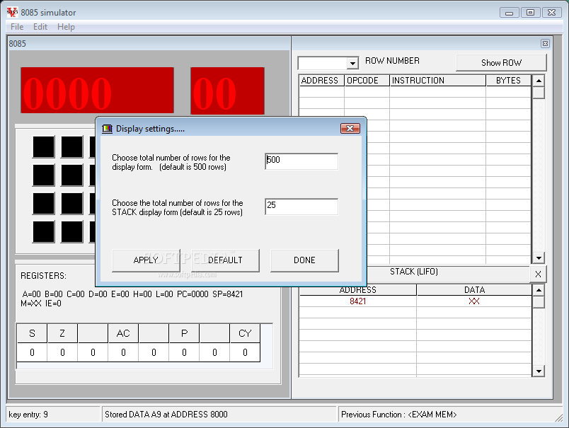 8085 simulator 1. 2 free download freewarefiles. Com programming.
