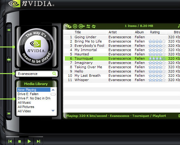 Download NVIDIA Windows Media Player 10 Media Module Skin 10