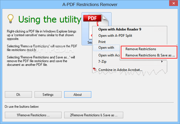 a pdf restrictions remover 1.6.5