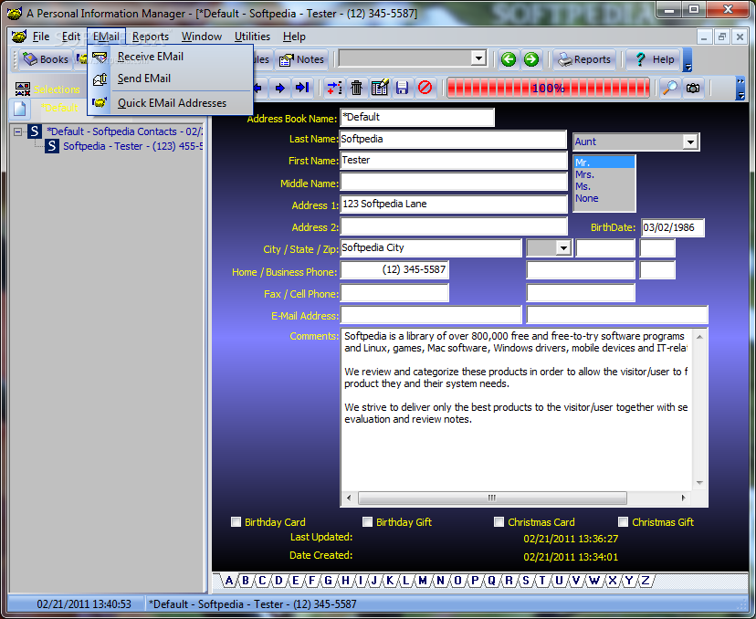 download a personal information manager 3 1