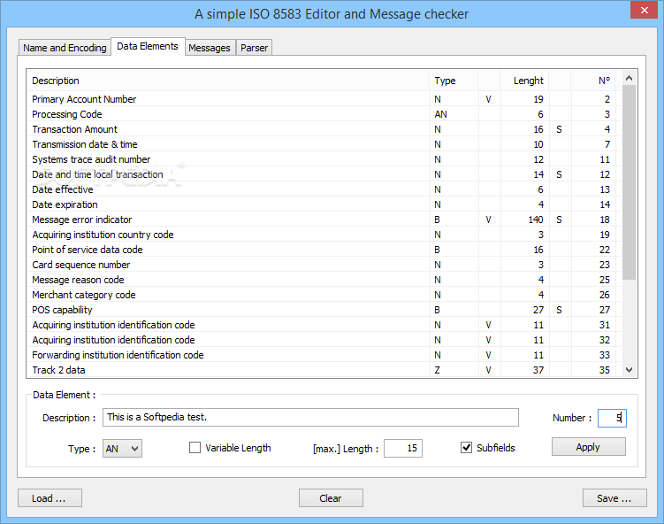 Download A Simple ISO 8583 Editor and Message checker 2 1 6 0