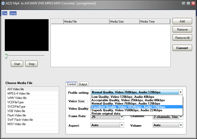 A123 avi mpeg wmv mov to flash converter 1.0 full