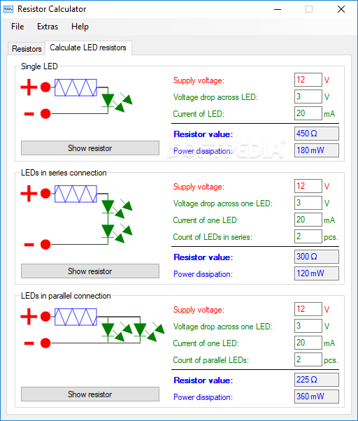Download Resistor Calculator 1 0 8