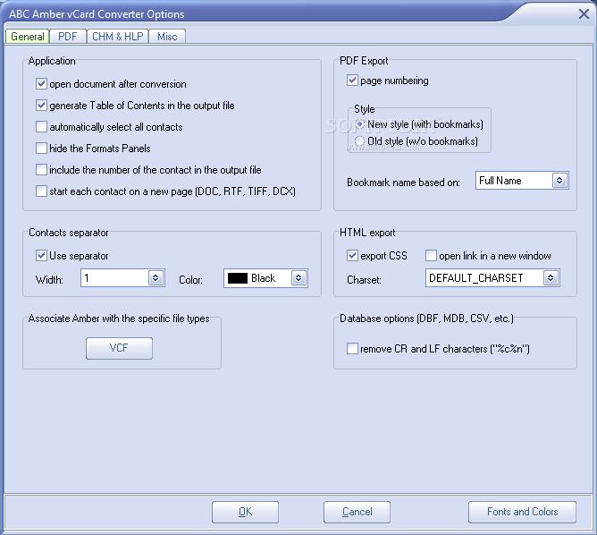 Download ABC Amber vCard Converter Latest -BetDownload.Com