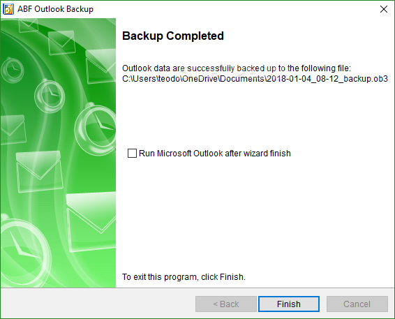 how to download outlook backup
