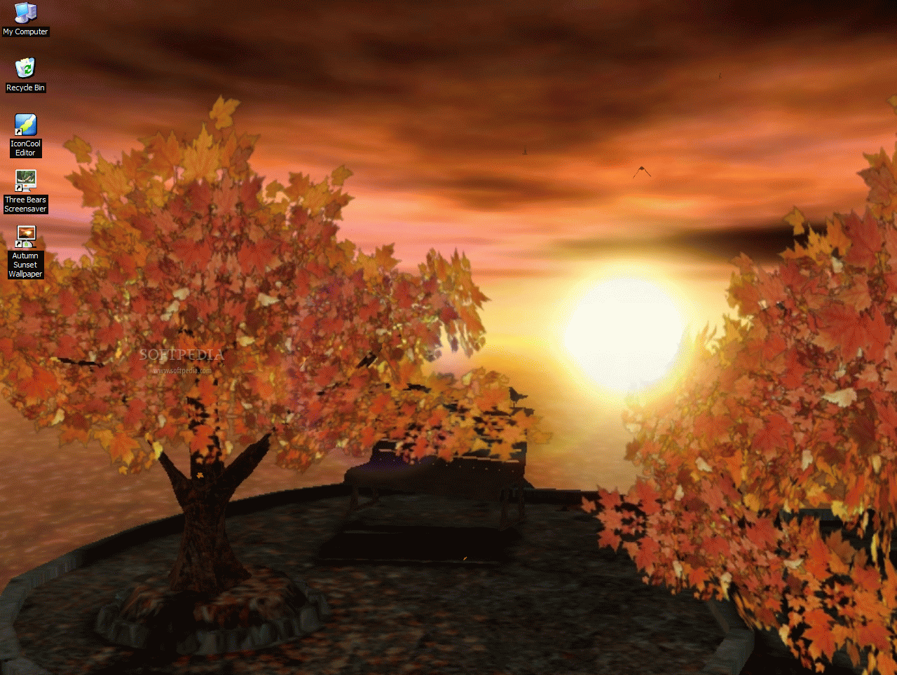 Screenshot 1 of Autumn Sunset - Animated 3D Wallpaper
