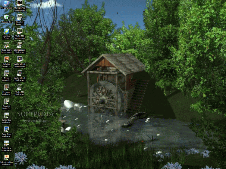 Screenshot 1 of AD Water Mill - Animated Desktop Wallpaper