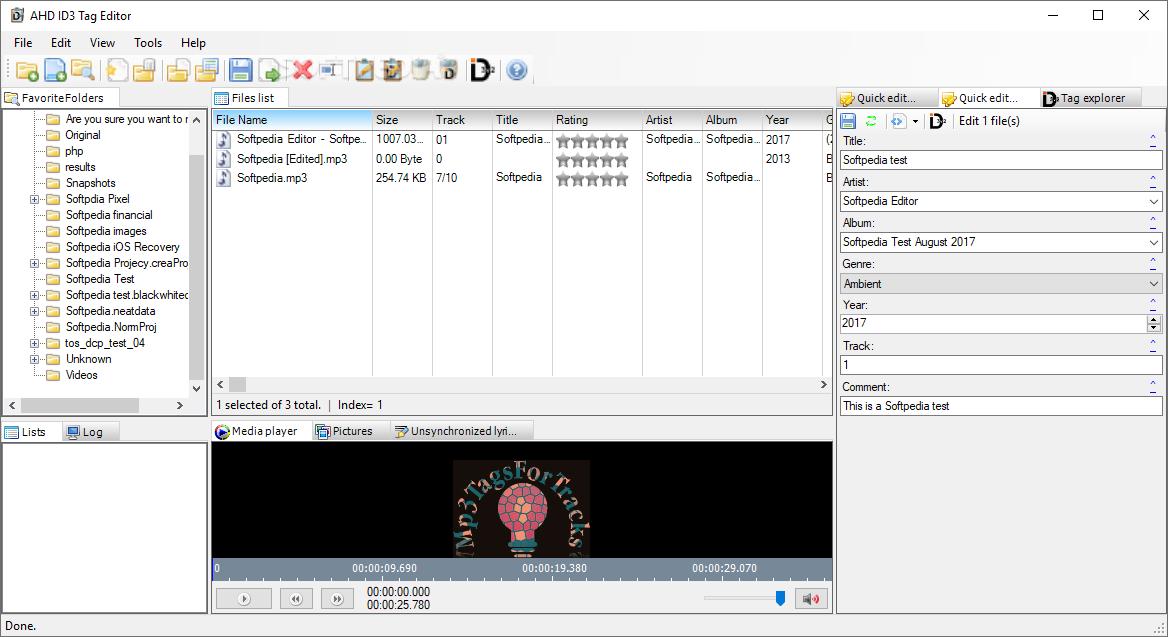 Download AHD ID3 Tag Editor Portable 2 2 15 0