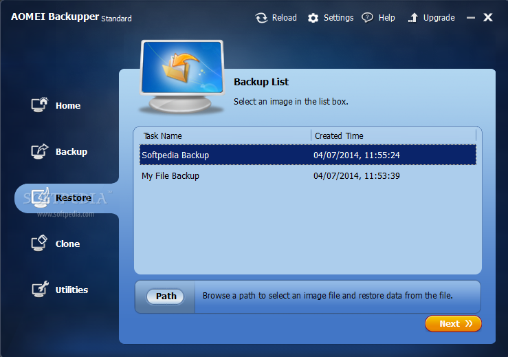 Download AOMEI Backupper Standard 4.5.1