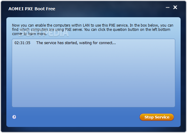 Download AOMEI PXE Boot Free 1 5