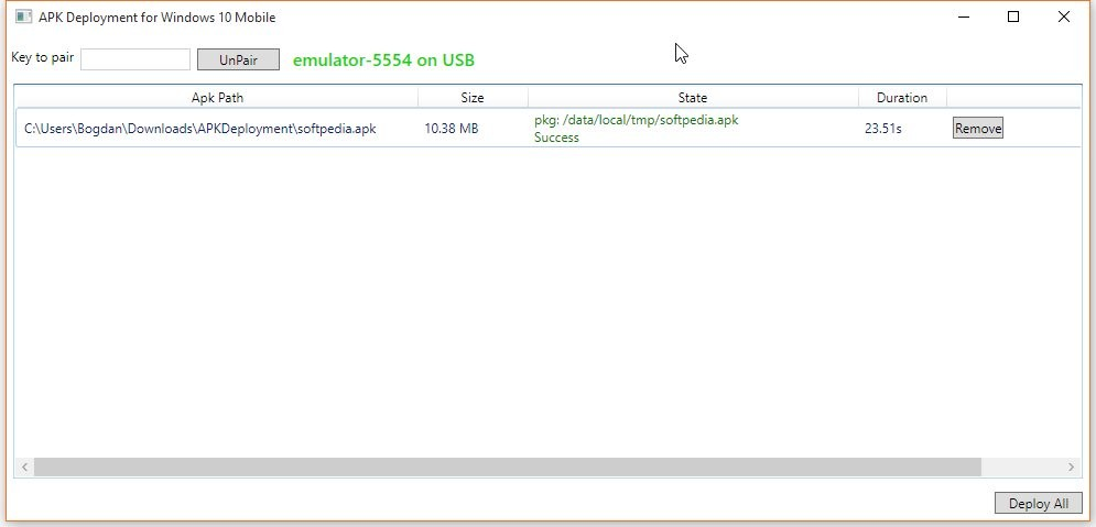 Download APK Deployment for Windows 10 Mobile