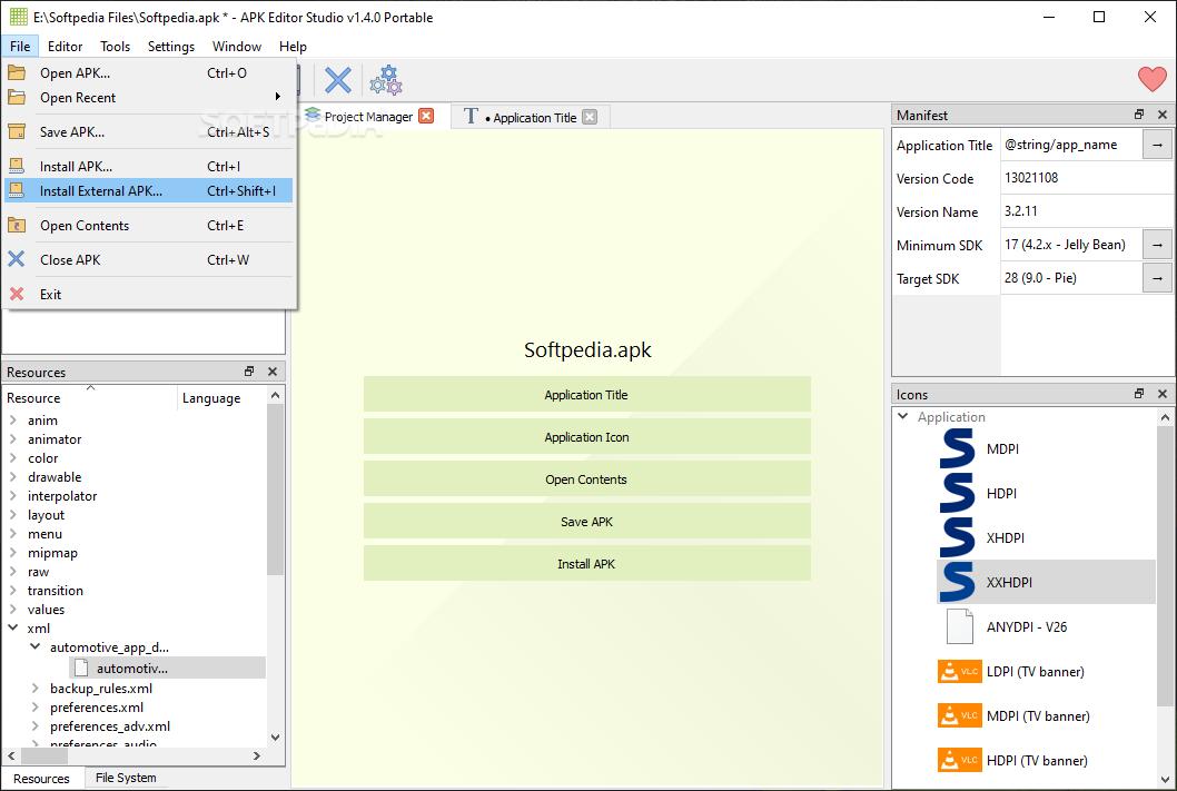 debug menu access apk