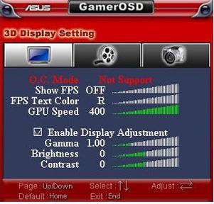 Asus GamerOSD Overclocking Windows 8