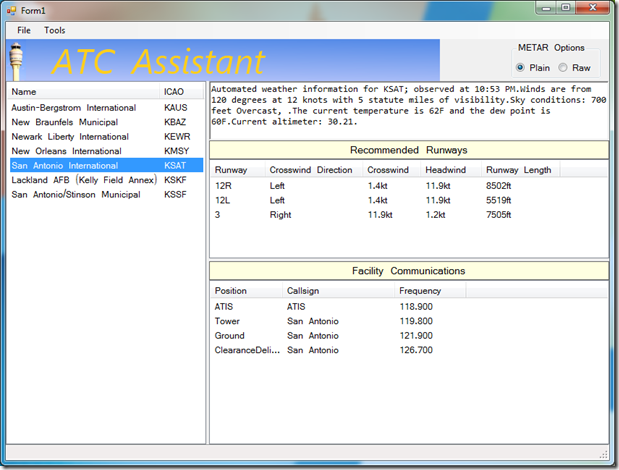atc assistant Atc assistant is a handy and reliable utility designed for users of the vatsim network the tool provides runway recommendations based on current metar and any restrictions specified in the local sop.