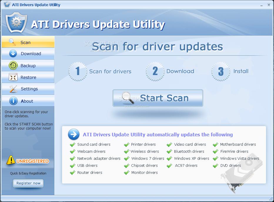 Download ATI Drivers Update Utility 8.1.5990.53052