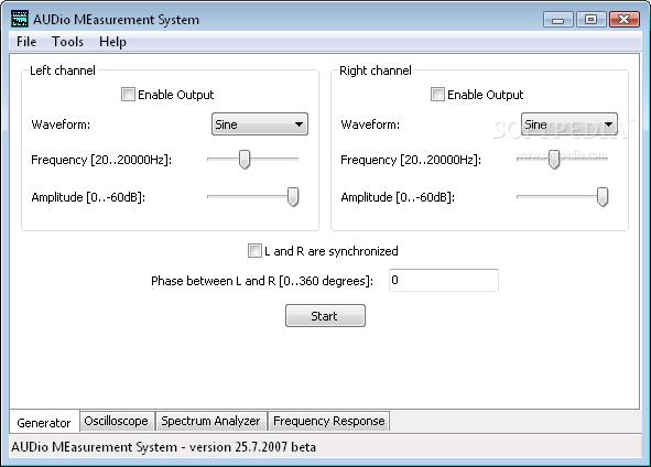 Download AUDio MEasurement System 20080821