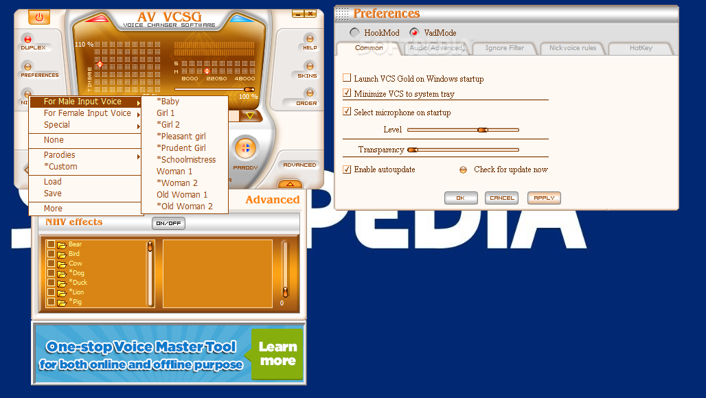 AV Voice Changer 7.0 Crack With Serial Code Download