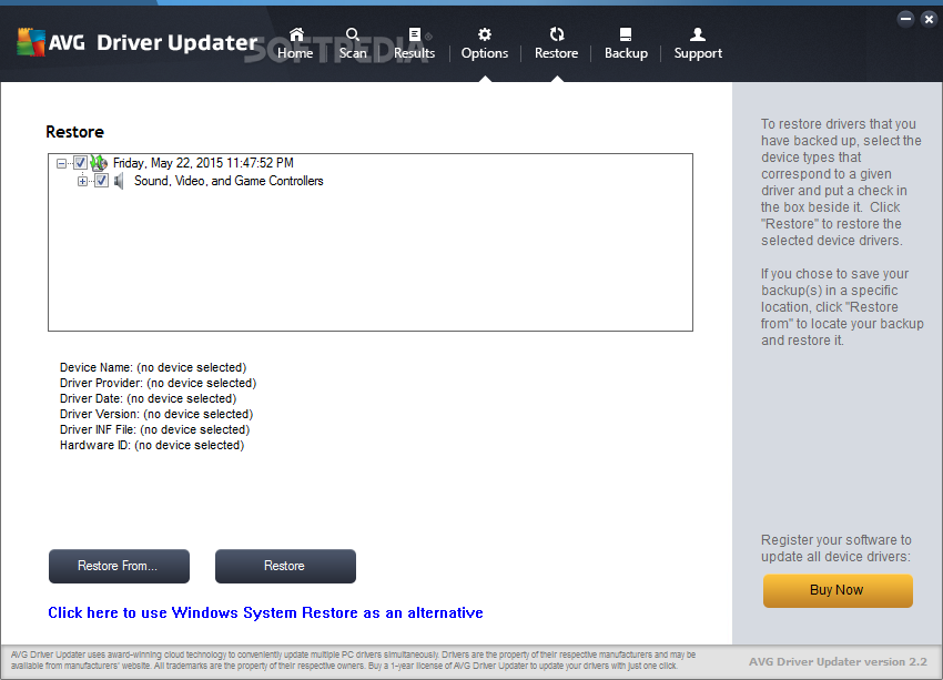 avg driver updater 2.2 3 registration key free