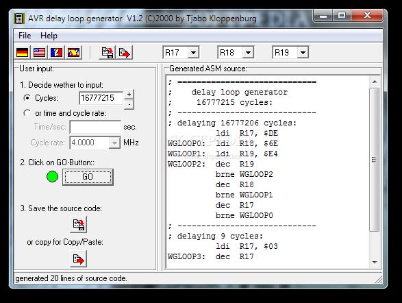 Download AVR delay loop generator 1 2