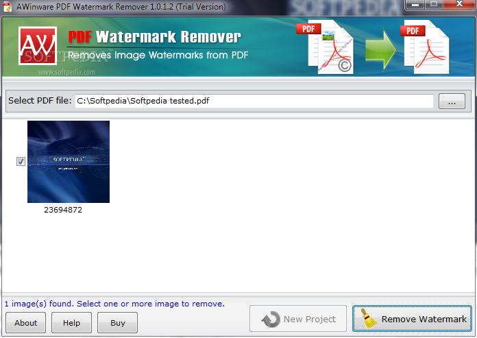 Download AWinware PDF Watermark Remover 1 0 1 2 Build 1 0