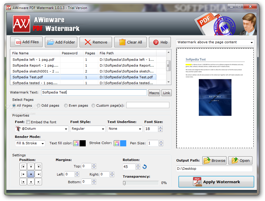 work version for notebook 2018 AWinware PDF Watermark Remover fzk