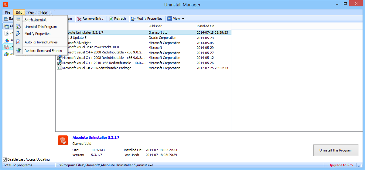 Download Absolute Uninstaller 5 3 1 26