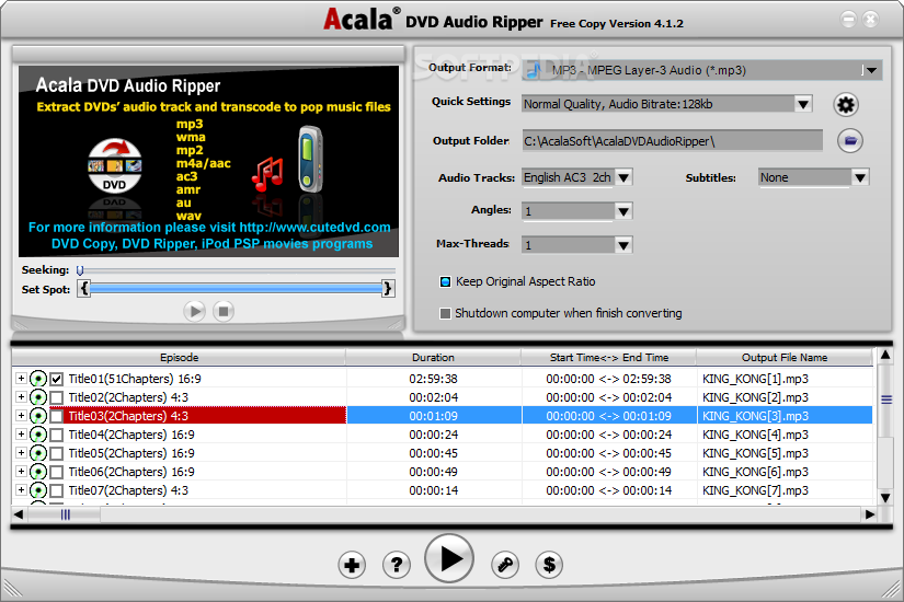 1 dvd audio ripper download: