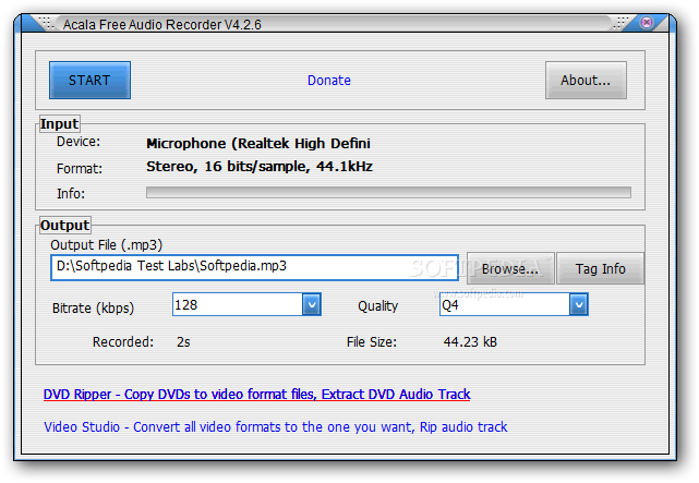 Download Acala Free Audio Recorder 4 2 6