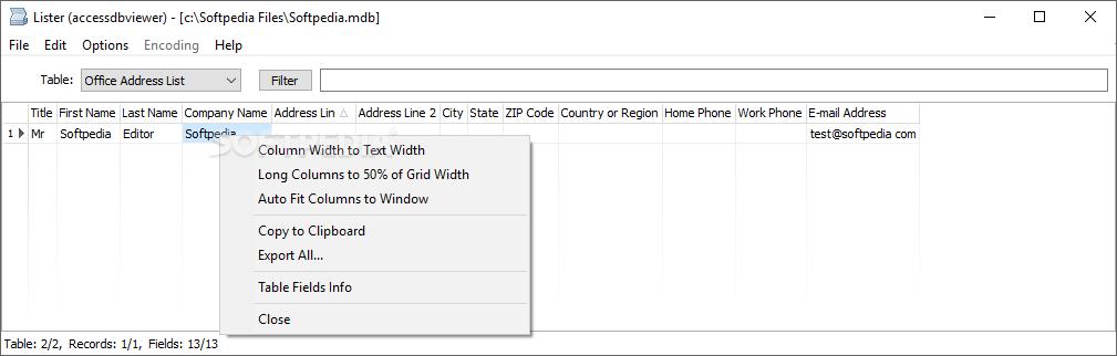 Download Access DB Viewer 1 3 2 2 Beta