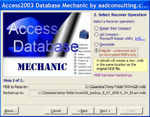 Access Database Mechanic Download