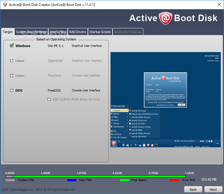 Download Active@ Boot Disk Creator 14 0 0