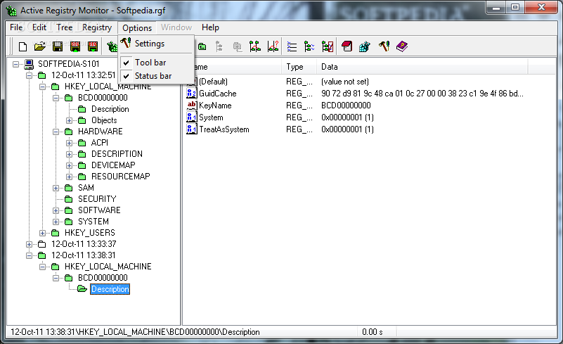 ... scan the registry of a remote computer, and undo/redo registry changes
