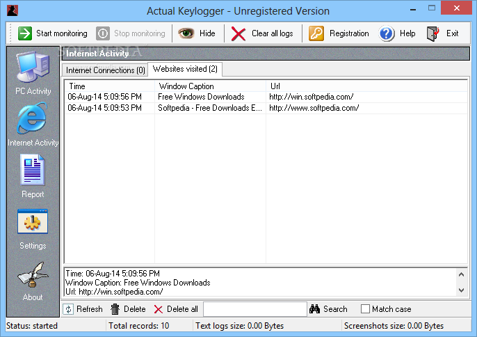 actual keylogger 3.2 registration code free