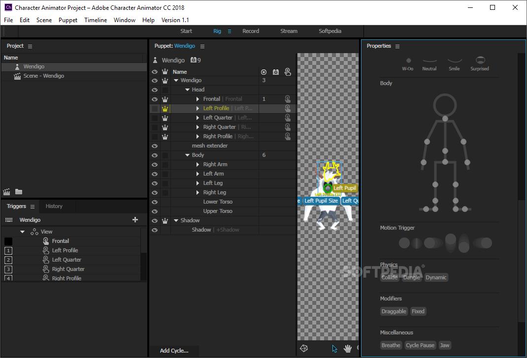 Download Adobe Character Animator CC 2019 2 1 1 7